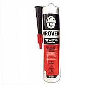 Герметик силикатный GROVER F100 для печей и каминов черный 300мл