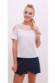 Женская нежная блуза прямого покроя Магдалена размер 42,44,46