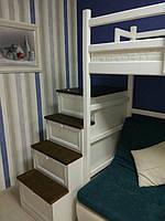 Кровать двухъярусная деревянная  2