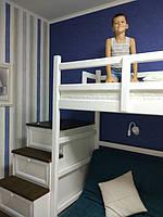 Кровать двухъярусная деревянная  3
