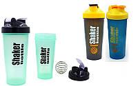 Шейкер с венчиком для спортивного питания 4445, 3 цвета: 600мл, пластик