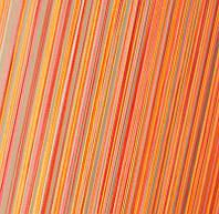Шторы Нити, кисея радуга вертикальная №102 оранжевый закат