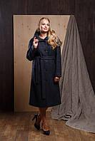 """Женское кашемировое пальто с капюшоном больших размеров """"Симона"""""""