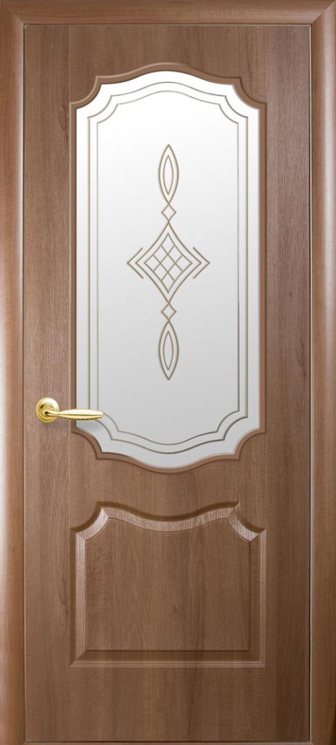 """Дверь ПВХ (""""Фортис Р"""") V  вензель полуост Р1"""