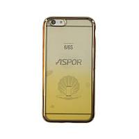 Чехол силиконовый Aspor Gold Collection для iPhone 6 желтый