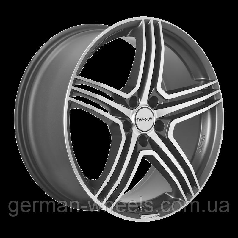 """Диски от Tomason ( Томасон ) модель TN5 цвет Gunmetal polished параметры 8,5J x 18"""" PCD 5 x 108 ET 40"""