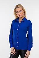 Блуза - рубашка  классическая делового стиля из креп- шифона
