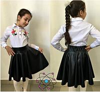 Юбка школьная для девочки(черный),р.8-11 лет
