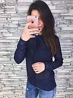 Блуза женская  шифоновая  с воротником