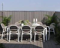 Обідній комплект Стіл  Alloro  140-210 см + 8 крісел Palma