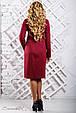 Стильное женское платье 2336 марсала (52-58), фото 4
