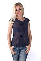 Женская блуза из шифона свободного кроя