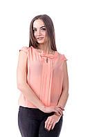 Блуза женская свободного кроя  с коротким рукавом
