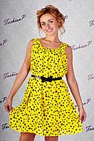 Платье горох GE-318 (желтый), фото 1