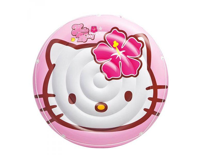 Детский надувной плотик Hello Kitty Intex 137 см (56513)
