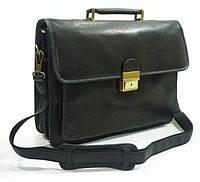 Стильный практичный кожаный портфель KATANA k34205-1, черный