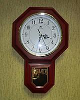 Настенные пластиковые часы с маятником и боем FUDA WA9004