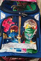 Каркасный ортопедический рюкзак для мальчиков младших классов c героями Ниндзяго