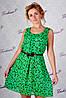 Платье горох GE-318 (зеленый)