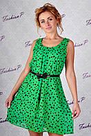 Платье горох GE-318 (зеленый), фото 1