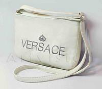 """Сумка мини №237,  """" Versace """", белая"""
