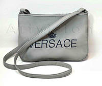 """Сумка мини №237, """" Versace """", серая"""