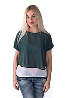 Блуза женская двойная шифон