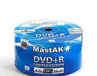 Диск MastAK DVD+R 4,7 Gb 16x Bulk (50шт.)