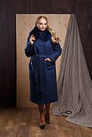 """Женское зимнее пальто из букле больших размеров с мехом """"Гретта"""""""