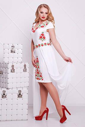 820c4480bfe Белое платье нарядное с красными цветами