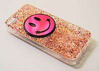 Чехол на Айфон 5/5s/SE ТПУ Силикон Блестки Глиттер Smile Разноцветный