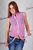 Рубашка со звездами GE-324 (розовый), фото 1