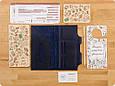 Тревел-кейс для документов кожаный с карманом для ручки. Цвет синий, фото 3