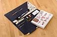 Тревел-кейс для документов кожаный с карманом для ручки. Цвет синий, фото 4