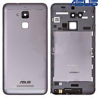 Задняя панель корпуса (крышка аккумулятора) для Asus Zenfone 3 Max (ZC520TL), черная, оригинал