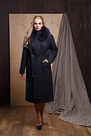 """Женское кашемировое зимнее пальто с мехом """"Симона"""" больших размеров"""