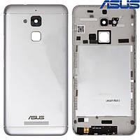 Задняя панель корпуса (крышка аккумулятора) для Asus Zenfone 3 Max (ZC520TL), белая, оригинал