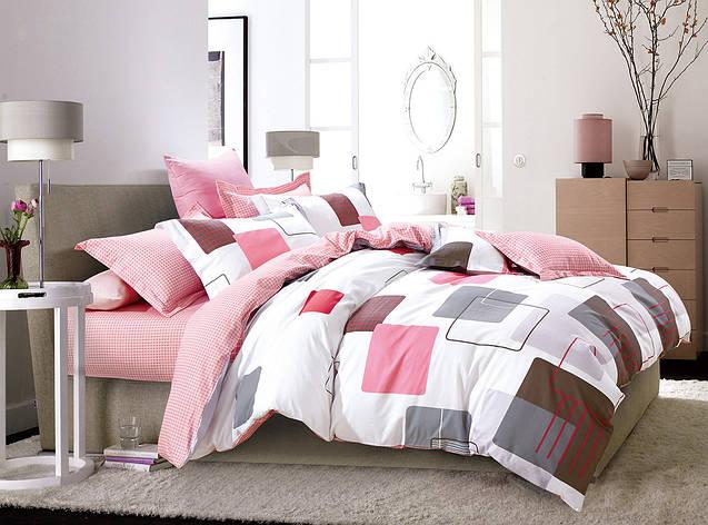 Двуспальный комплект постельного белья евро 200*220 хлопок  (7963) TM KRISPOL Украина, фото 2
