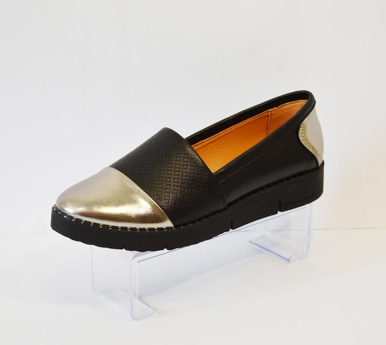 Туфли женские с серебристым носком Kento 10433