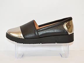 Туфли женские с серебристым носком Kento 10433, фото 2