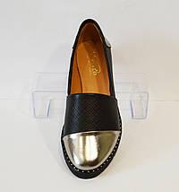 Туфли женские с серебристым носком Kento 10433, фото 3