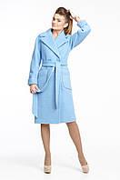 Пальто женское двубортное, букле, фото 1