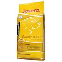 Корм для собак Josera Family 15 кг - Калорийный корм для беременных и кормящих сук и прикорма щенков