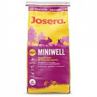Корм для собак Josera Miniwell 15 кг - Мелкие гранулы для маленьких гурманов