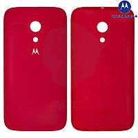 Задняя панель корпуса (крышка аккумулятора) для Motorola Moto G XT1032/XT1033/XT1036, красная, оригинал