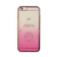 Чехол силиконовый Aspor Gold Collection для iPhone 6 розовый