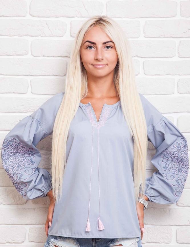 c99119035f2 Вышитая женская блуза с рукавами-фонариками