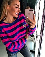 Женский полосатый свитер (расцветки)