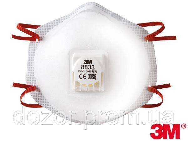 Полумаска с дыхательным клапаном 3M-MAS-P3-8833 - ООО «НПП «Дозор» в Днепре