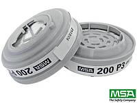 Противопылевые фильтры для полумасок и полнолицевых масок Advantage® с двойным штыковым соединением MSA-FI-P3